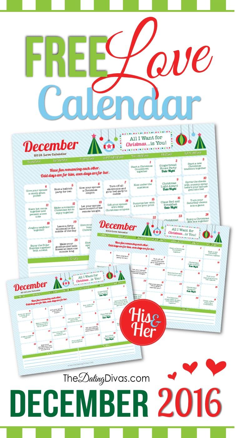 December Love Calendar