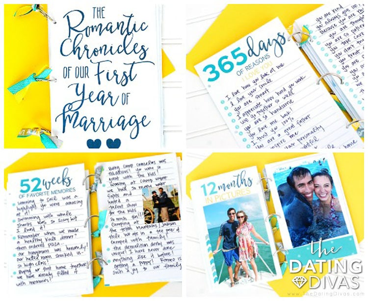 First Anniversary Memory Book Gift