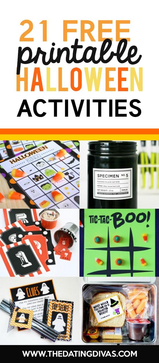 Halloween Activities Printables