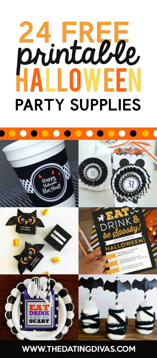 Halloween Party Supplies Printables
