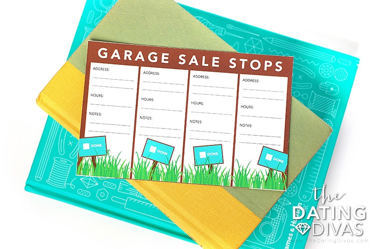 Garage Sale Date Task List
