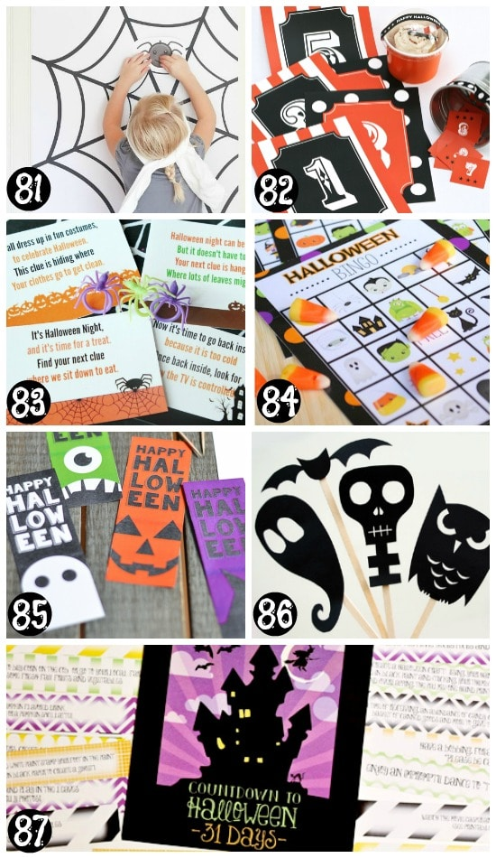 image about Free Printable Halloween Decorations identified as 101 Absolutely free Halloween Printables- In opposition to The Courting Divas