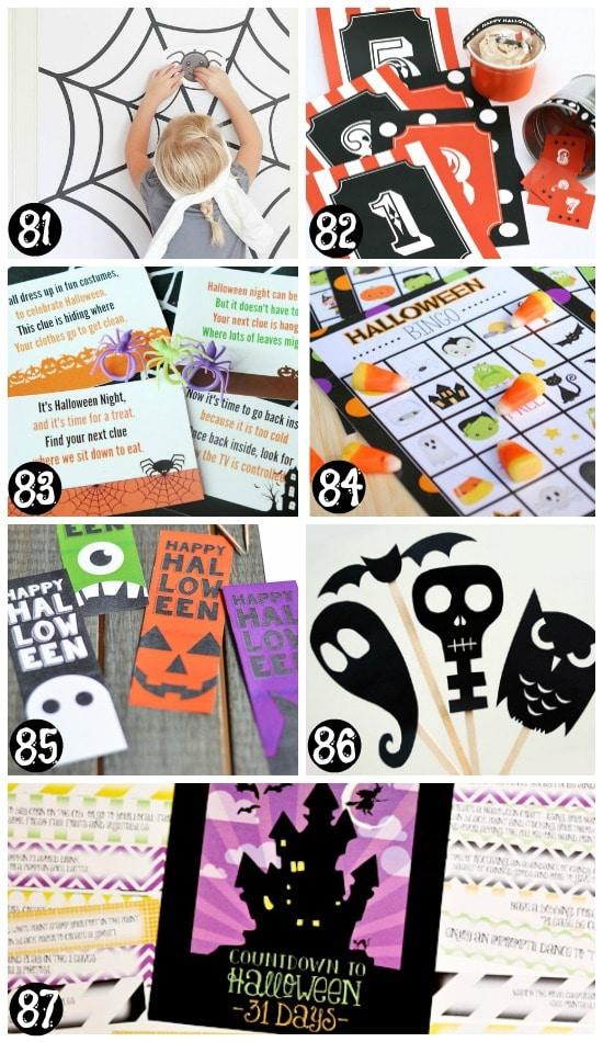 Printable Halloween Activities and Games