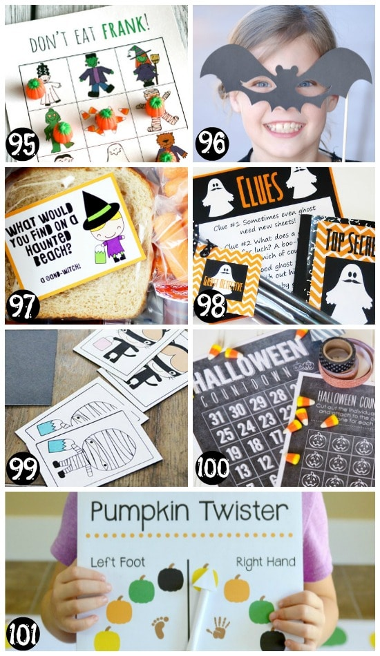 Printable Halloween Activity Ideas and Games