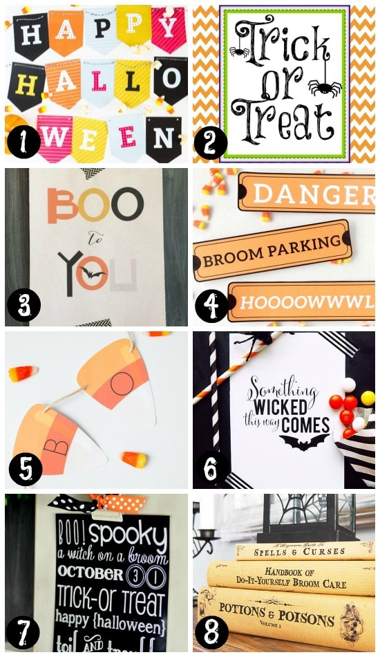 picture regarding Trick or Treat Signs Printable named 101 Free of charge Halloween Printables- Towards The Relationship Divas