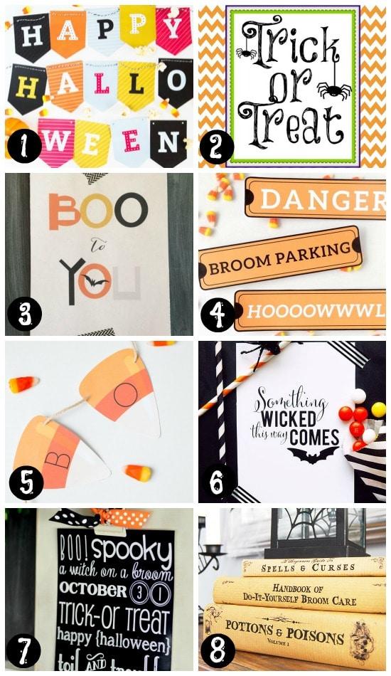 Printable Halloween Decorations