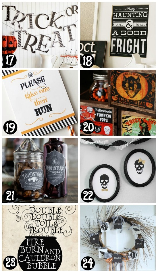 Free and Easy Printable Halloween Decorations