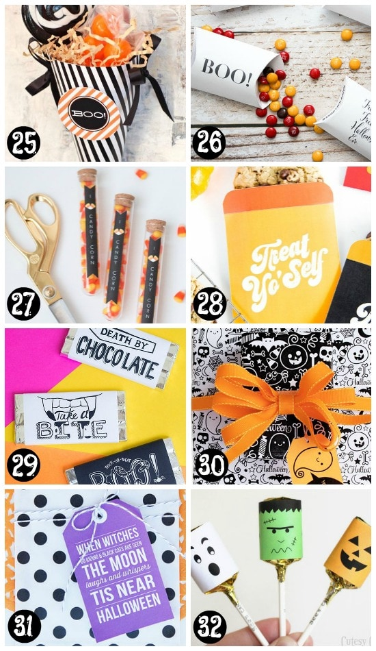 Printable Halloween Gifts and Printable Halloween Treat Tags
