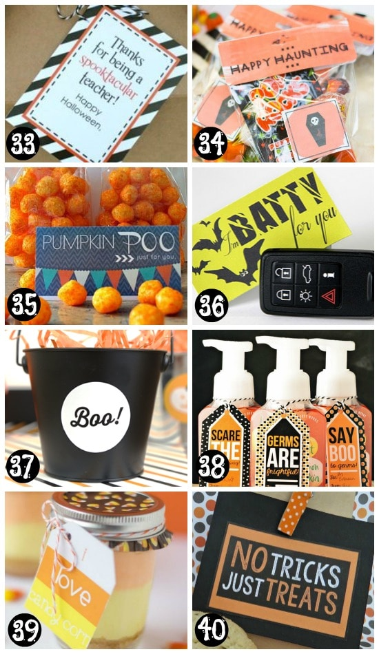 Free Printable Halloween Gifts and Treat Tags