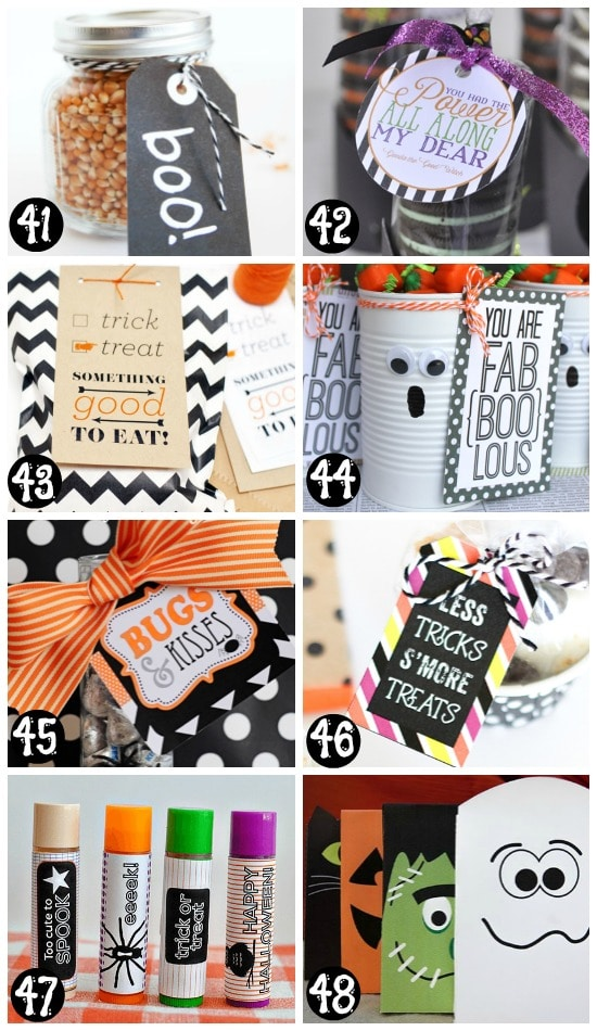 Free and Easy Printable Halloween Gifts and Treat Tags