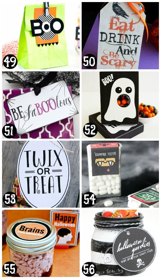 Printable Halloween Tags and Gift Ideas