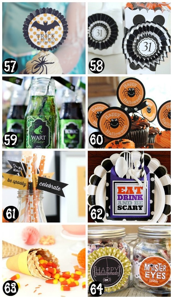 Printable Halloween Party Supplies