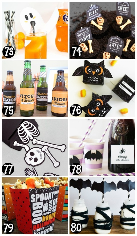 Free and Easy Printable Halloween Party Supplies