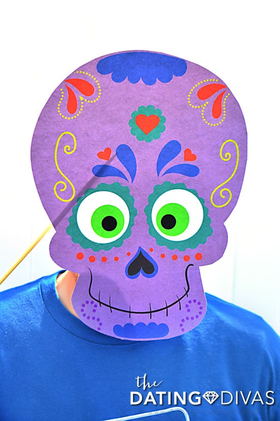 Sugar Skull photo booth props for Halloween.