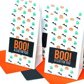 Halloween Scavenger Hunt Clue Bags