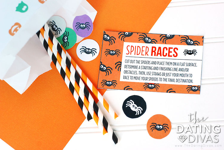 Halloween Scavenger Hunt Spider Race Game