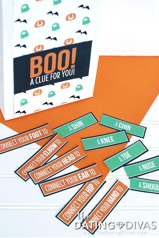 Halloween Scavenger Hunt Twister Game
