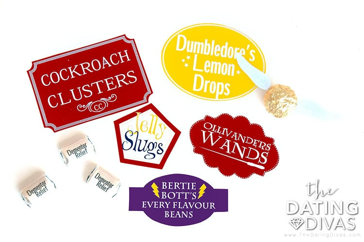 Fun Harry Potter themed gift bag treats!