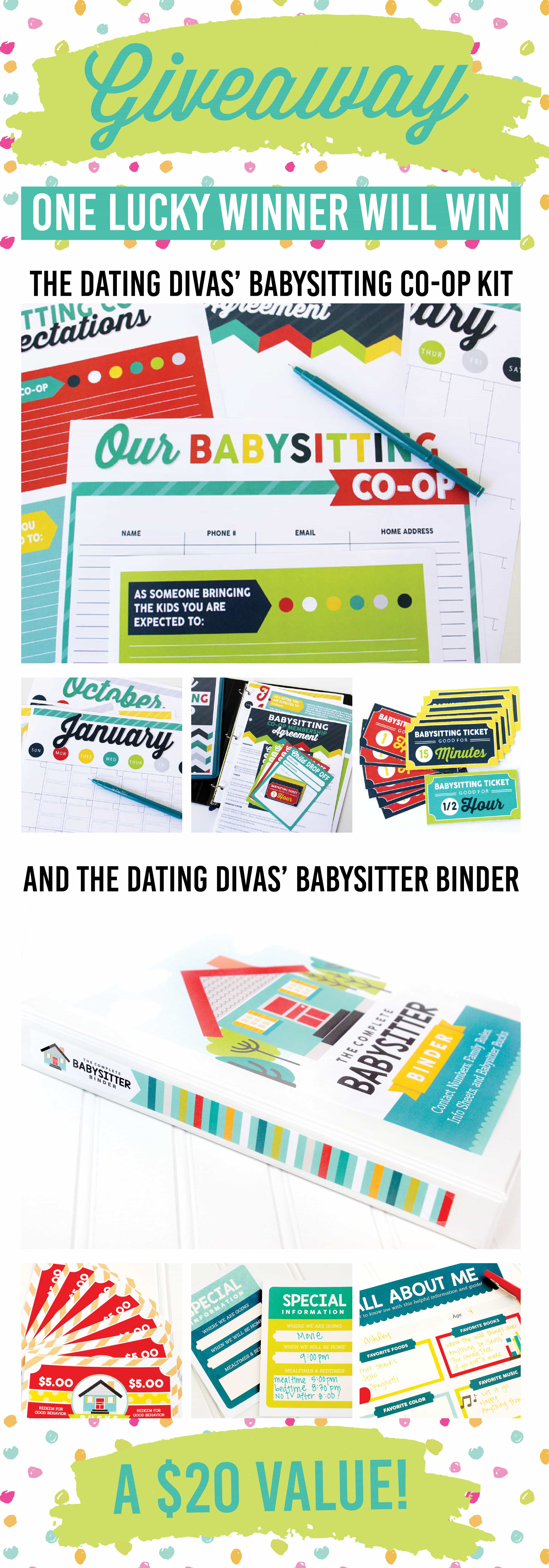 Pinterest Party Giveaway Babysitter Packs