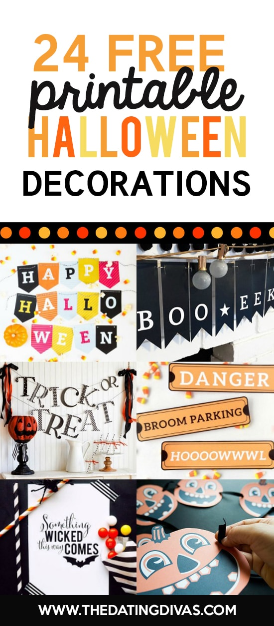 picture about Printable Halloween Banners titled 101 Free of charge Halloween Printables- Against The Courting Divas