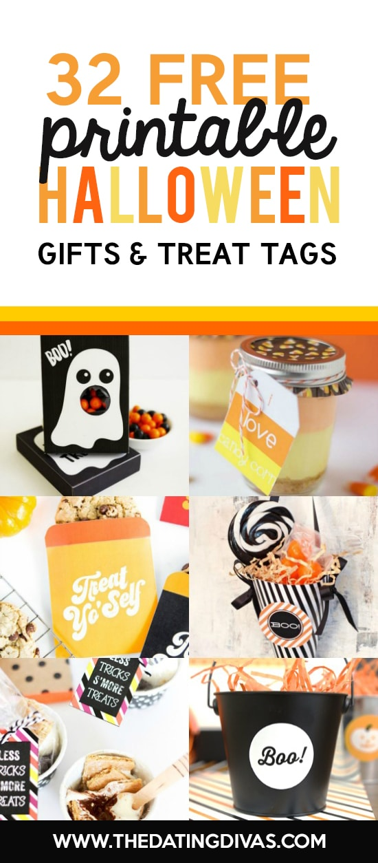 Halloween Gifts and Treat Tags Printables