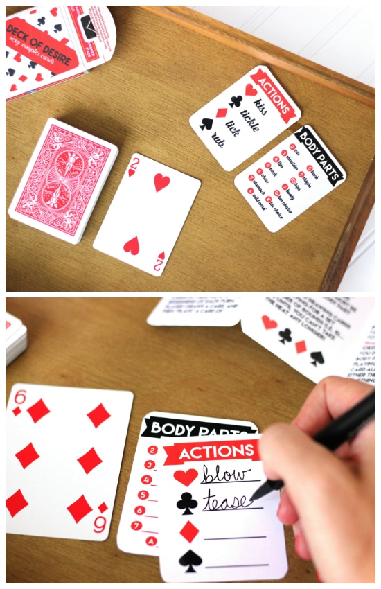 Sexy Card Game Intimate Actions