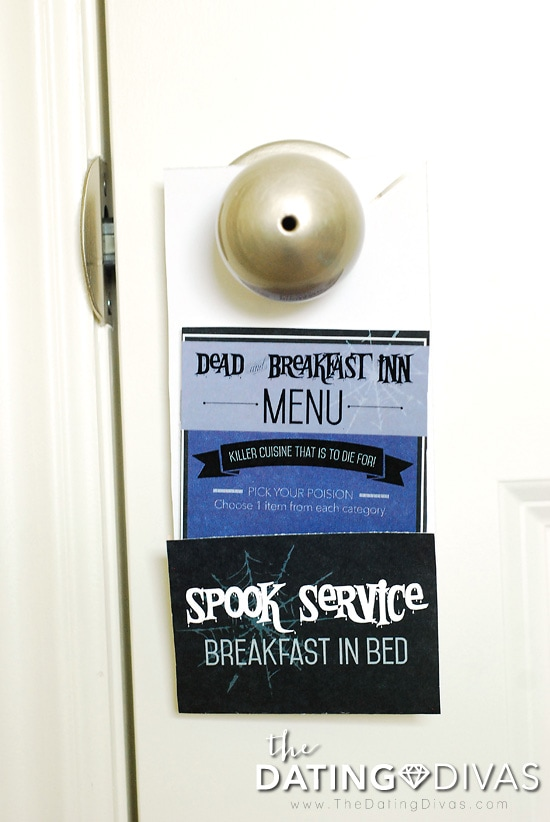 Halloween Breakfast In Bed Doorhanger