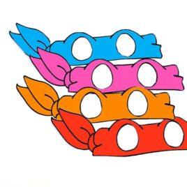 Printable Teenage Mutant Ninja Turtle masks.
