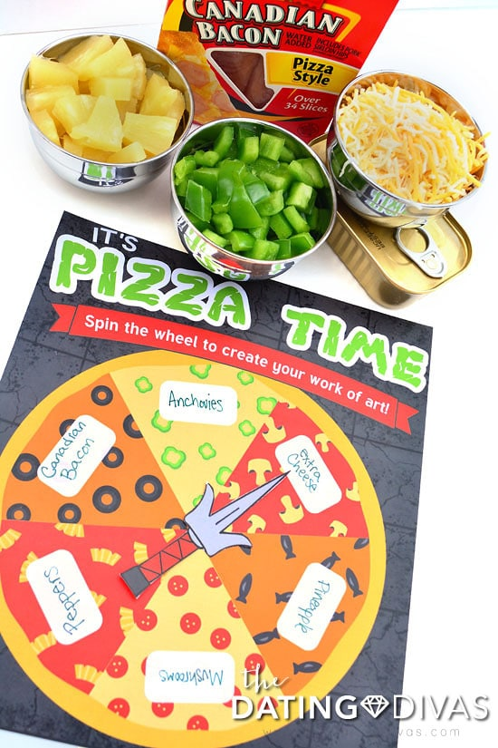 Fate chooses your toppings in this Pizza Time activity for Teenage Mutant Ninja Turtle date night.