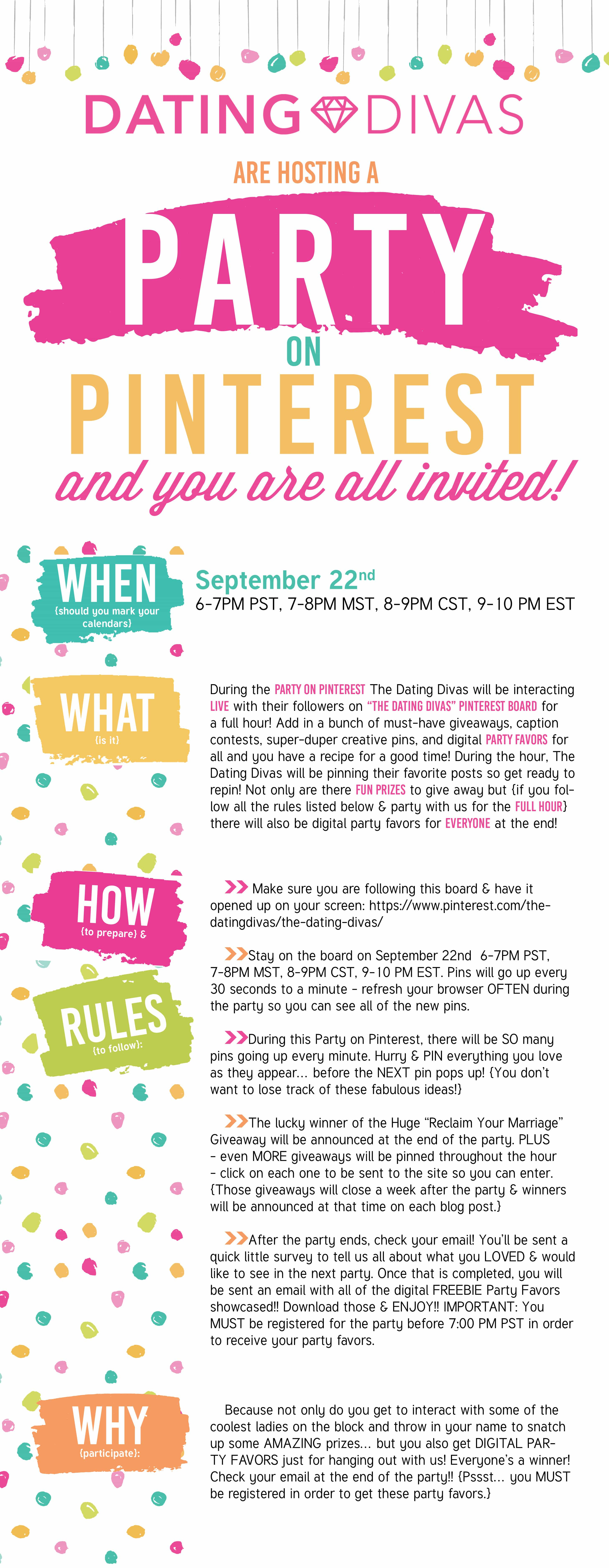 It\'s PARTY TIME!! Come join in the fun!! - The Dating Divas