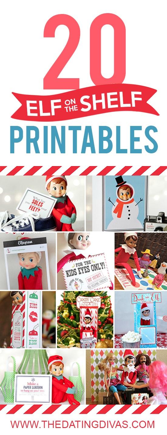 Printables to use with Elf on the Shelf.