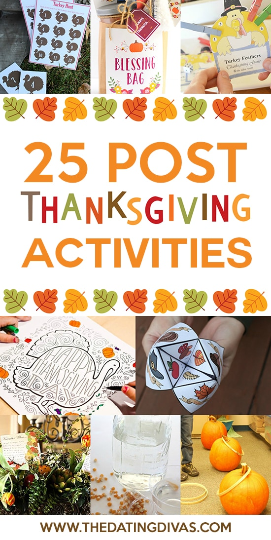 25 Post Thanksgiving Activities