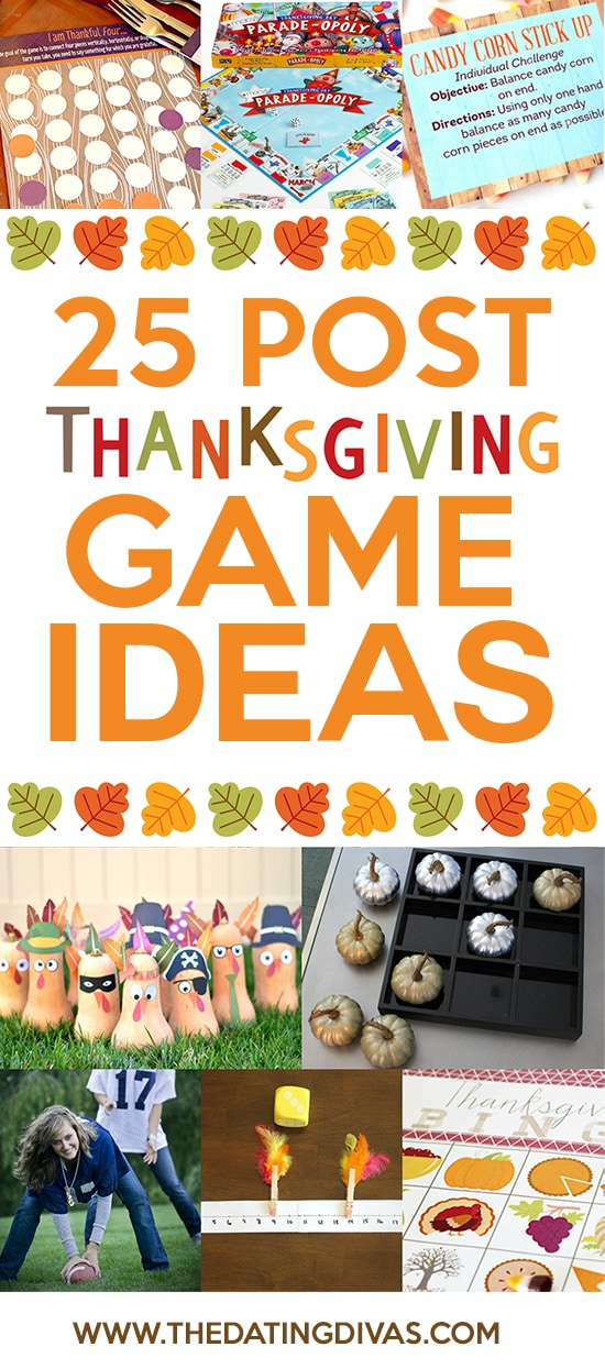 25 Post Thanksgiving Game Ideas