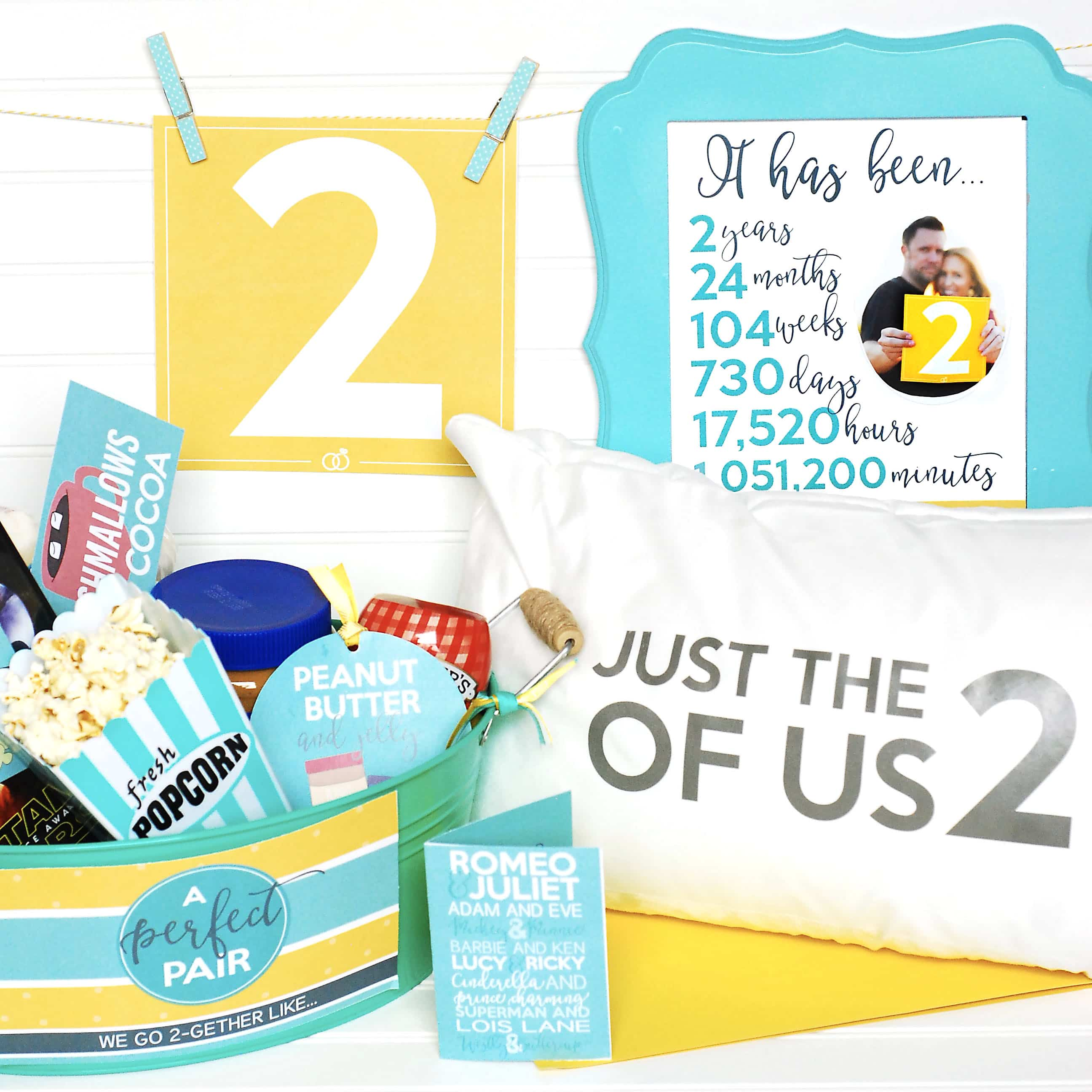 What Is The 2nd Wedding Anniversary Gift: Second Anniversary Gift Printable Kit