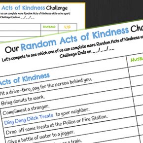 Acts of Service Random Acts of Kindness printables