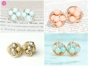 Beautiful, handmade, crystal stud earrings.