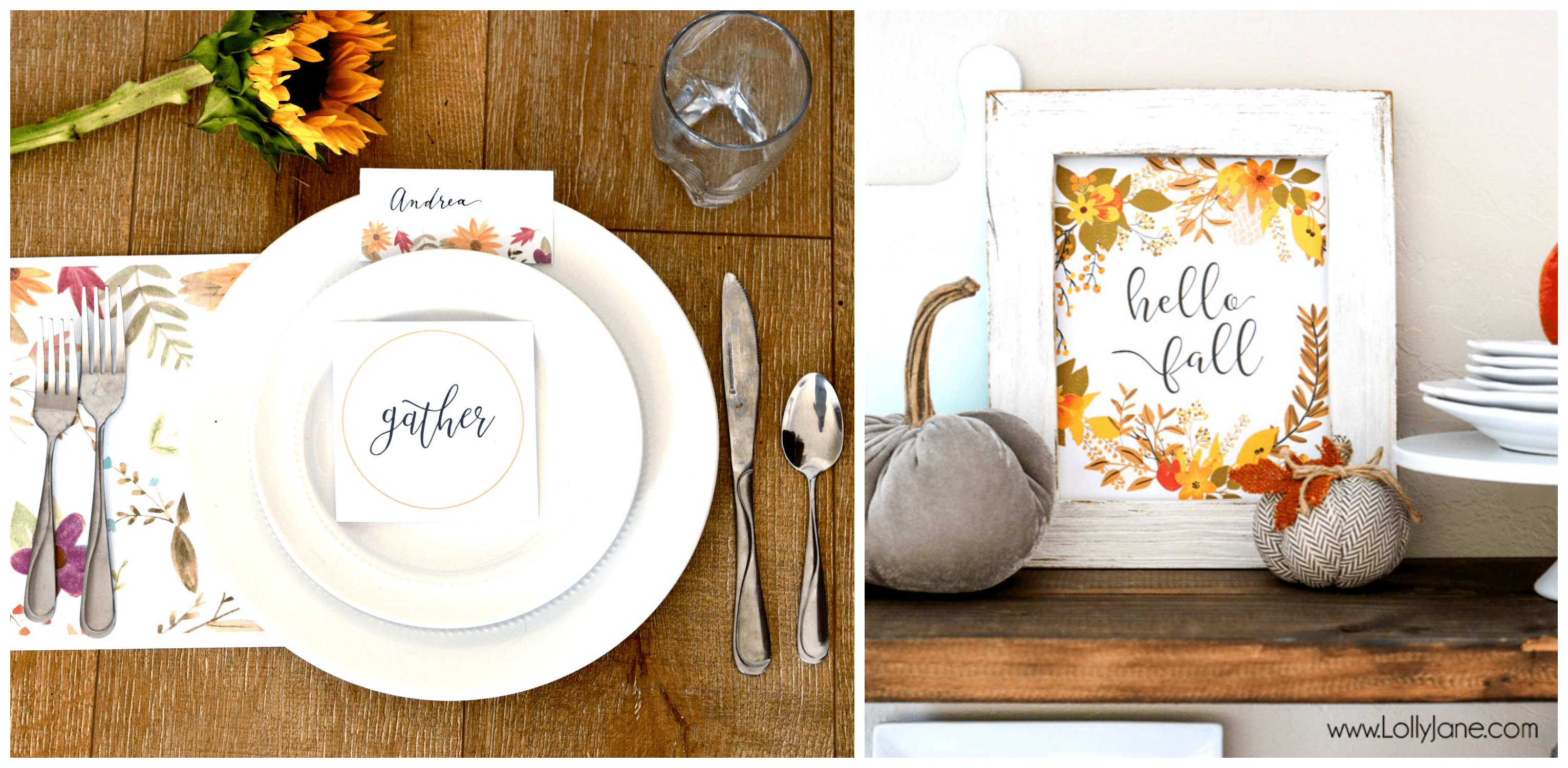 Thanksgiving Printable Kit and Fall Wall Art
