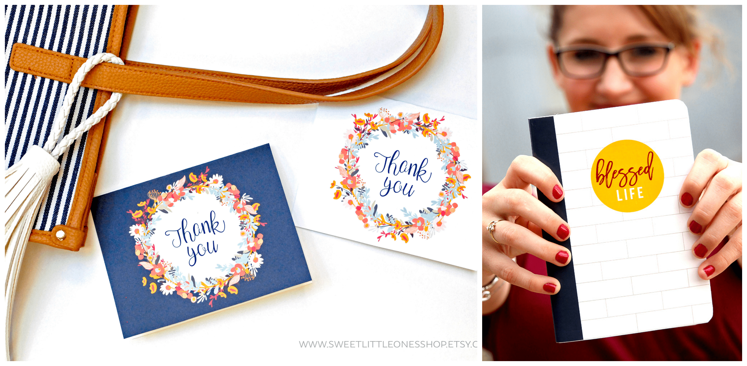 Printable Thank You Cards and Gratitude Journal