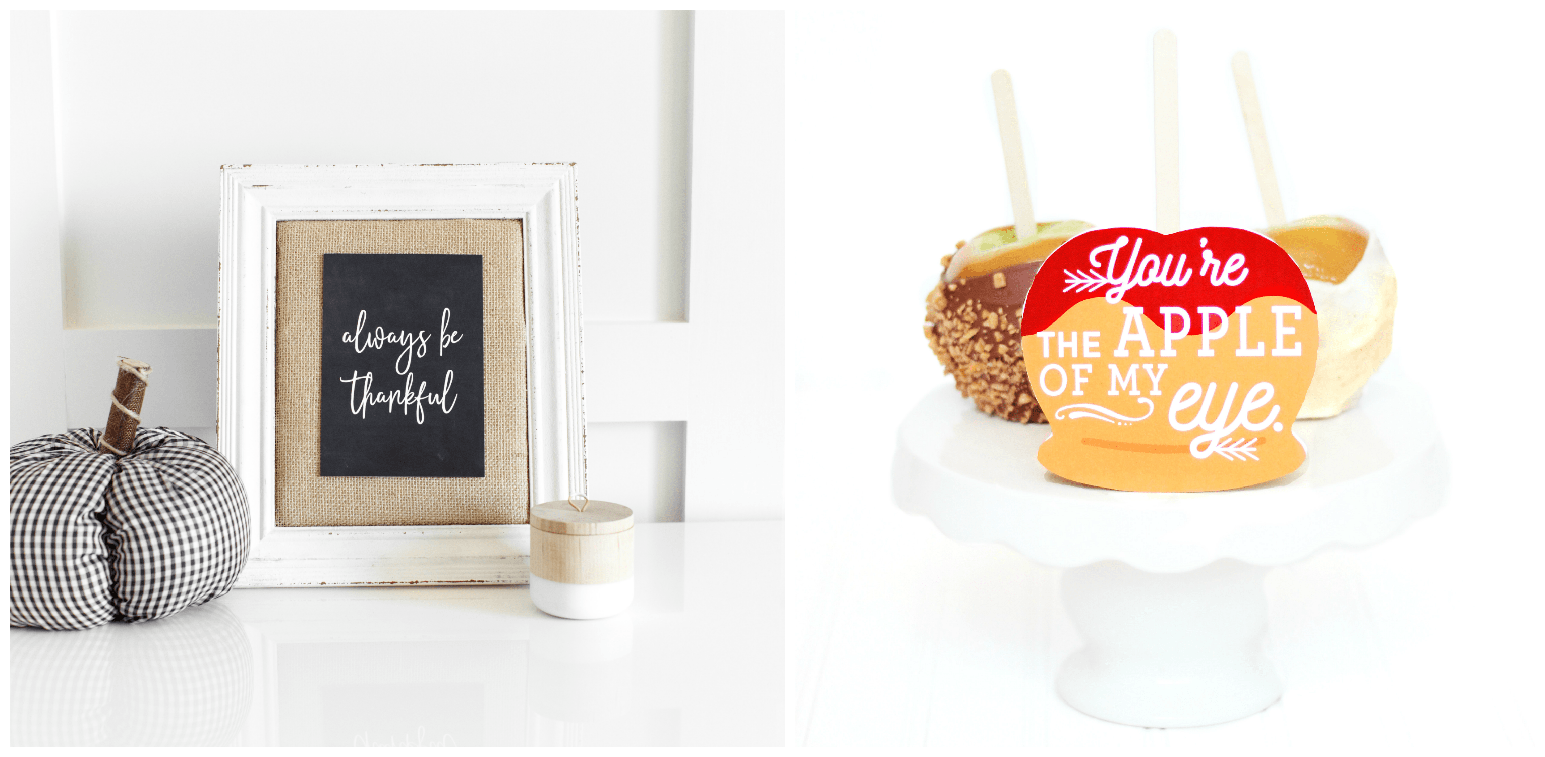 Fall Wall Print and Caramel Apple Printable