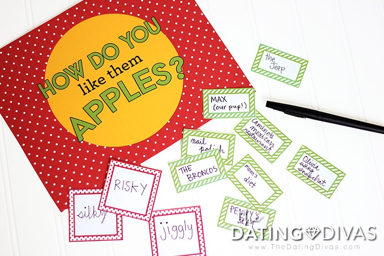 DIY Apples 2 Apples Game