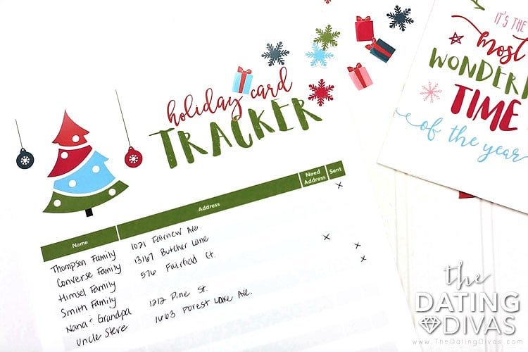 Christmas Card Tracker