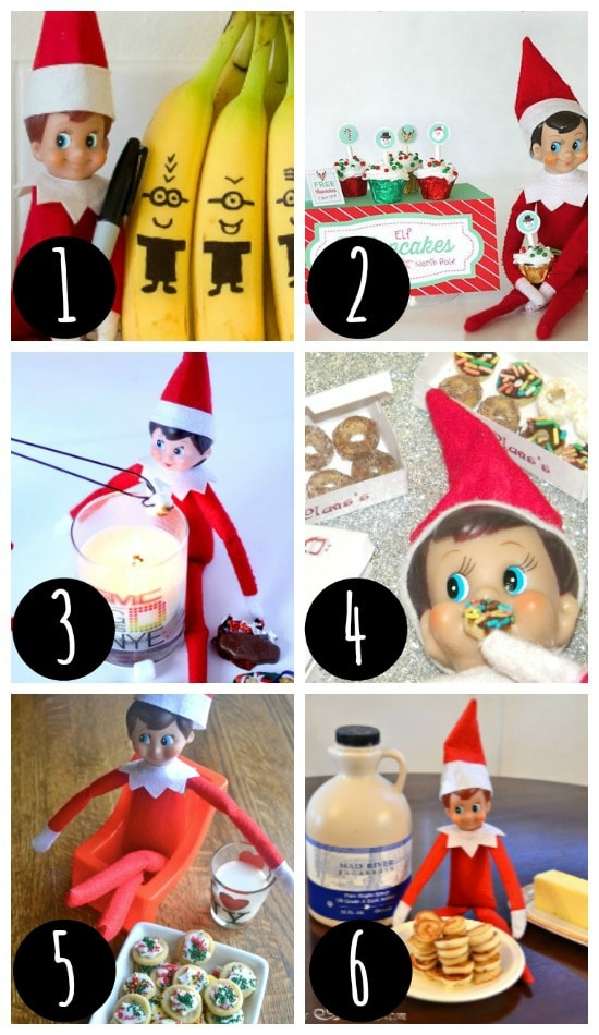 Family friendly Elf on the Shelf ideas.