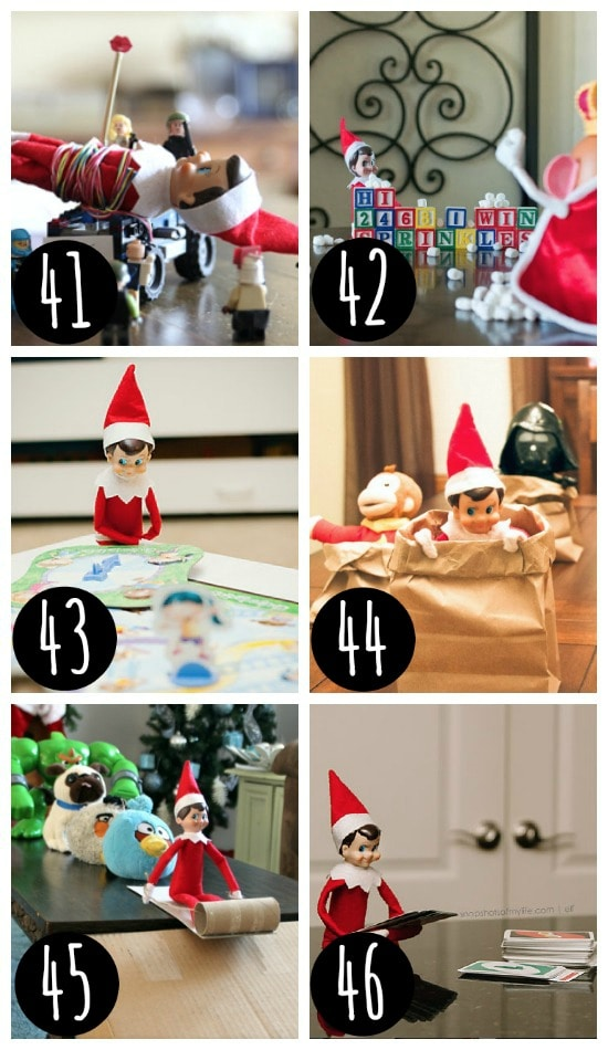Realistic Elf on the Shelf ideas