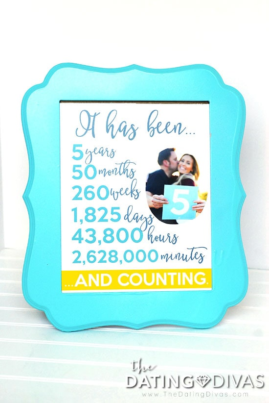 Fifth Anniversary Photo Frame