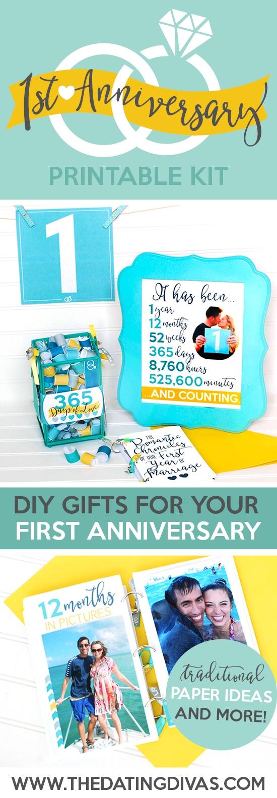bb728bbb38fb First Anniversary Gift Printable Kit