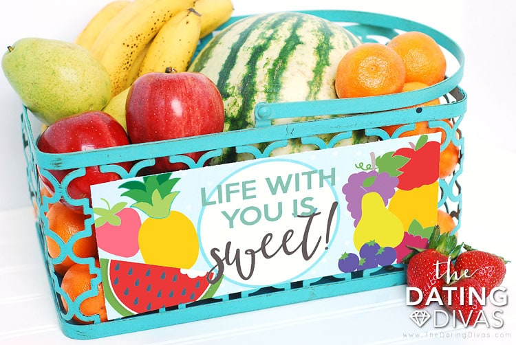 Fourth Anniversary Fruit Basket Gift Idea