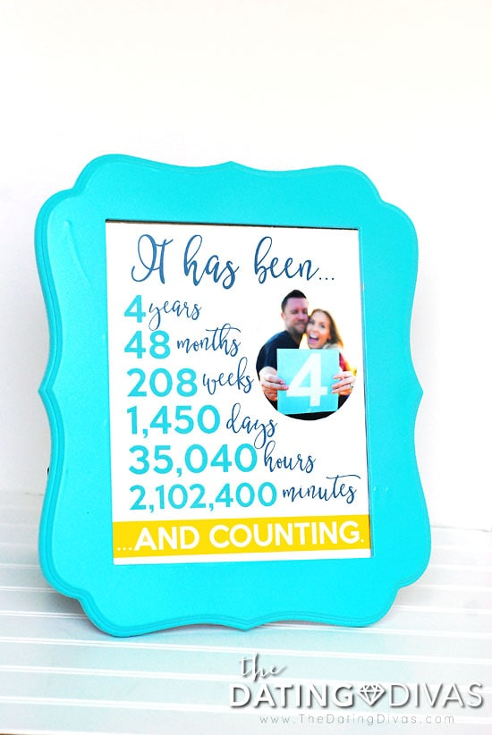 Fourth Anniversary Photo Frame Idea
