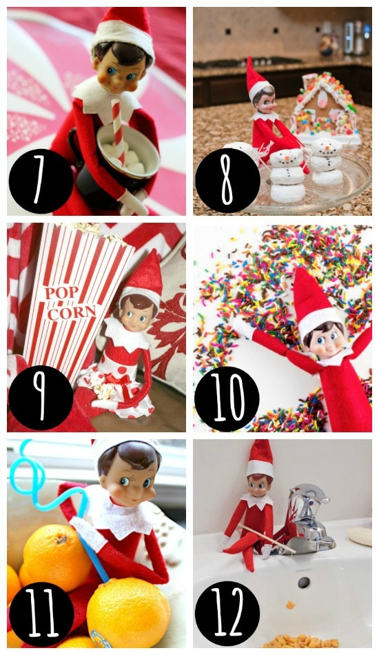 Fun Elf on the Shelf Ideas - Hiding Places
