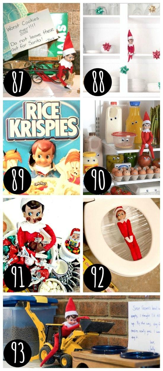 Silly Elf on the Shelf ideas.