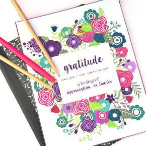 This beautiful gratitude journal is the perfect way to give thanks to your spouse.